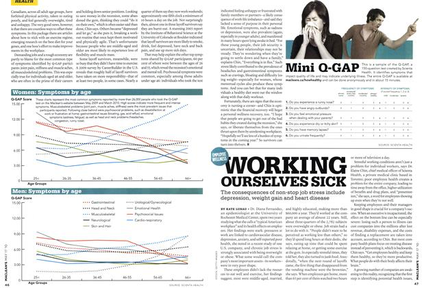 Article Preview: WORKING OURSELVES SICK, May 17th 2010 | Maclean's