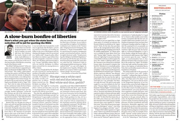 Article Preview: A slow-burn bonfire of liberties, May 17th 2010 | Maclean's