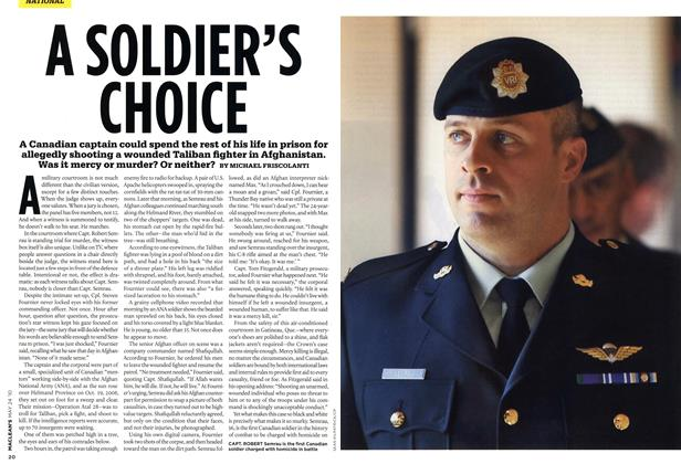 Article Preview: A SOLDIER'S CHOICE, MAY 24th 2010 2010 | Maclean's