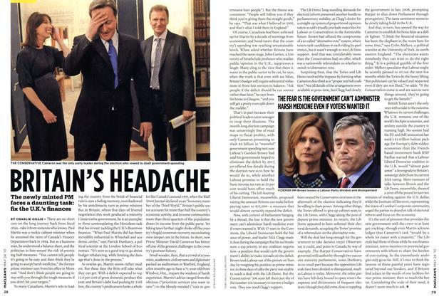 Article Preview: BRITAIN'S HEADACHE, MAY 24th 2010 | Maclean's