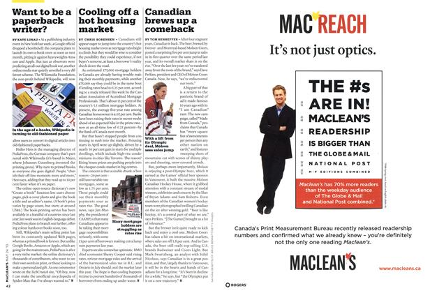 Article Preview: Want to be a paperback writer?, MAY 24th 2010 | Maclean's