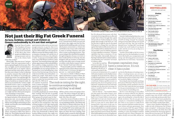 Article Preview: Not just their Big Fat Greek Funeral, MAY 24th 2010 | Maclean's