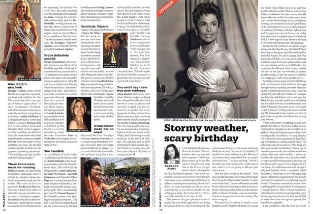 Article Preview: Stormy weather, scary birthday, MAY 24th 2010 | Maclean's
