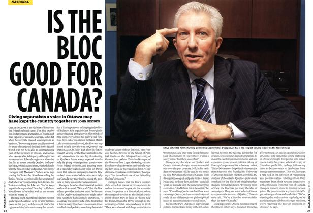 Article Preview: IS THE BLOC GOOD FOR CANADA?, MAY 31st 2010 2010 | Maclean's