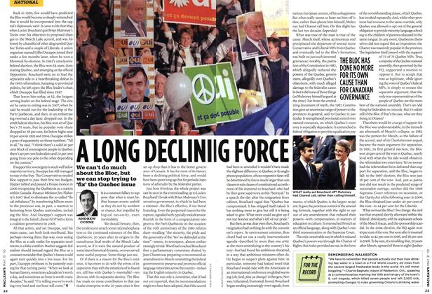 Article Preview: A LONG DECLINIG FORCE, MAY 31st 2010 2010 | Maclean's