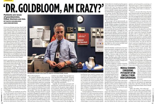Article Preview: 'DR. GOLDBLOOM, AM I CRAZY?', MAY 31st 2010 | Maclean's