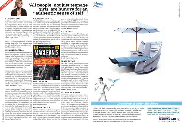 "Article Preview: 'All people, not just teenage girls, are hungry for an ""authentic sense of self"" ', MAY 31st 2010 