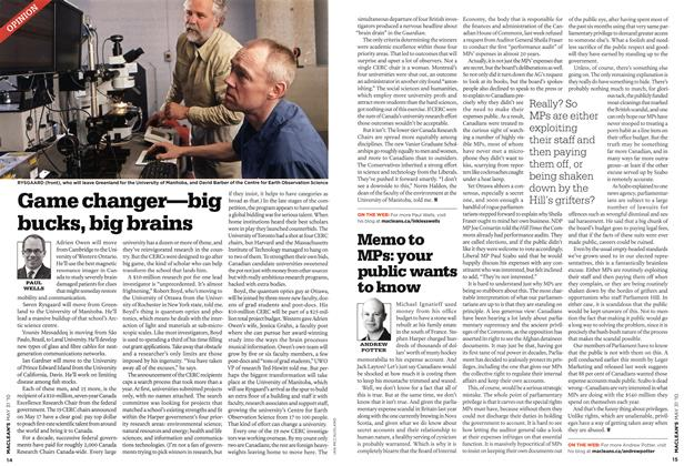 Article Preview: Game changer—big bucks, big brains, MAY 31st 2010 | Maclean's