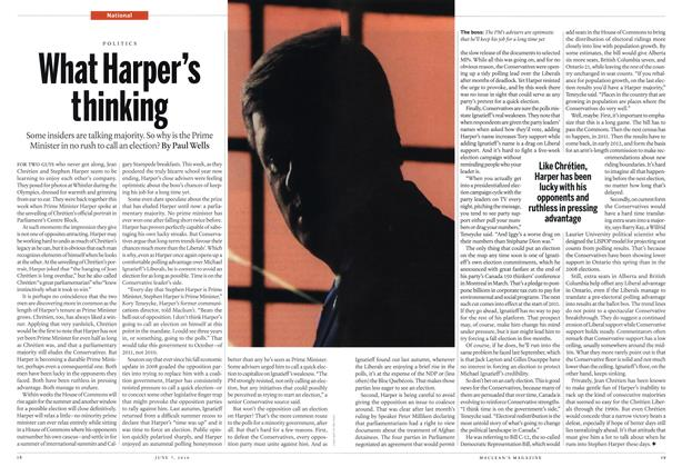 Article Preview: What Harper's thinking, June 7th 2010 | Maclean's