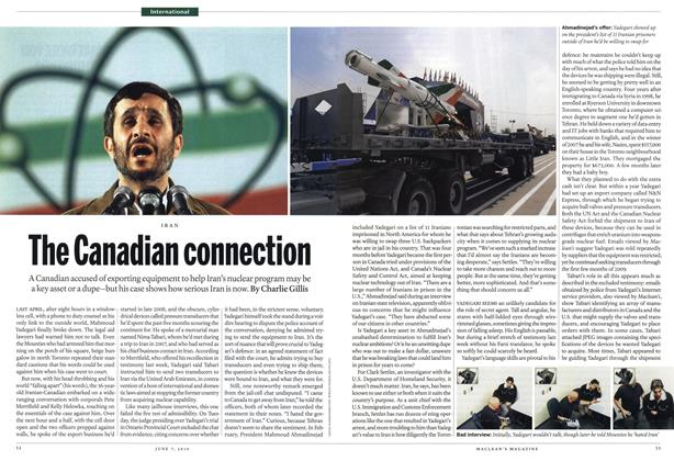 Article Preview: The Canadian connection, June 7th 2010 | Maclean's