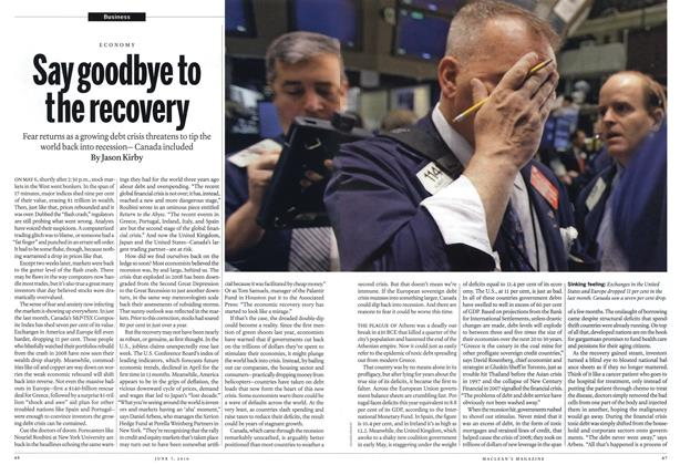 Article Preview: Say goodbye to the recovery, June 7th 2010 | Maclean's