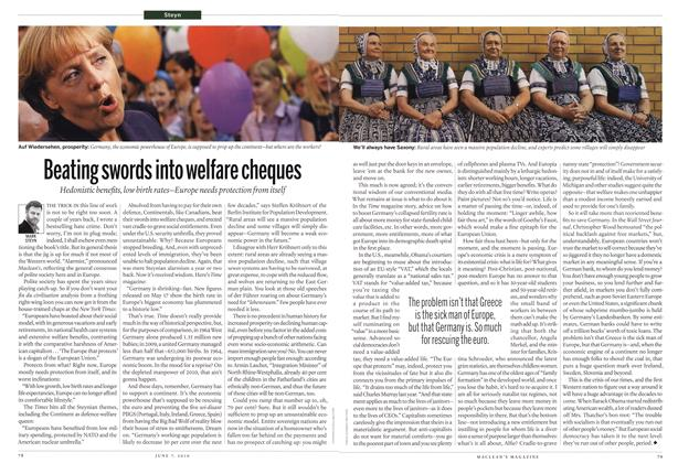 Article Preview: Beating swords into welfare cheques, June 7th 2010 | Maclean's