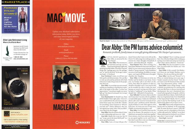 Article Preview: Dear Abby: the PM turns advice columnist, June 7th 2010 | Maclean's