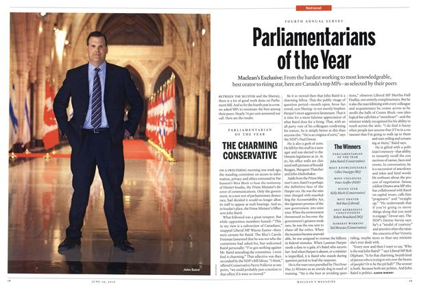 Article Preview: Parliamentarians of the Year, June 14th 2010 | Maclean's