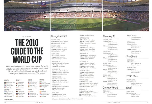 Article Preview: THE 2010 GUIDE TO THE WORLD CUP, June 14th 2010 | Maclean's