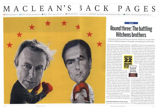 Article Preview: Round three: The battling Hitchens brothers, June 14th 2010 | Maclean's
