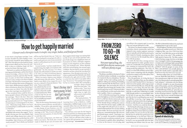 Article Preview: FROM ZERO TO 60-IN SILENCE, June 2010 | Maclean's