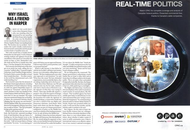 Article Preview: WHY ISRAEL HAS A FRIEND IN HARPER, June 14th 2010 | Maclean's