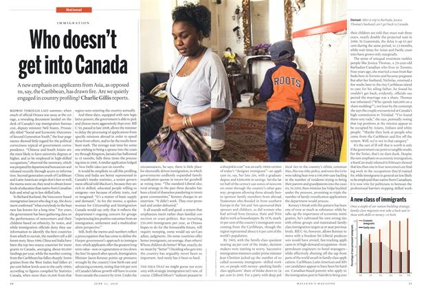 Article Preview: Who doesn't get into Canada, June 21st 2010 | Maclean's
