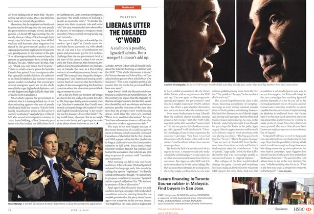 Article Preview: LIBERALS UTTER THE DREADED 'C' WORD, June 21st 2010 | Maclean's