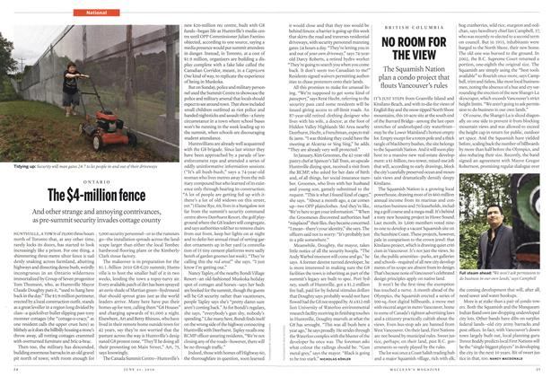 Article Preview: The $4-million fence, June 21st 2010 | Maclean's