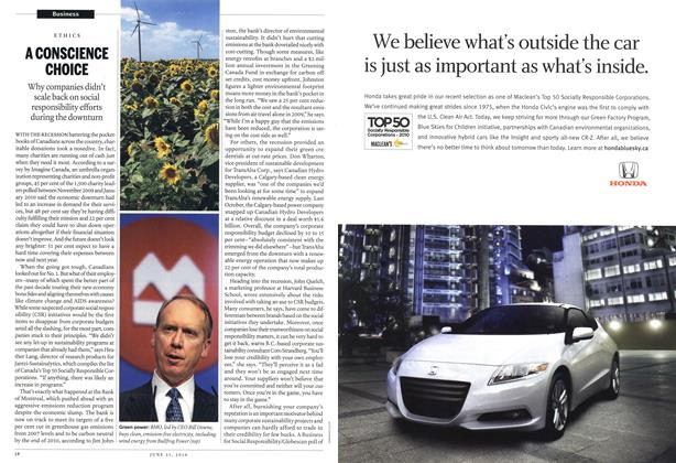 Article Preview: A CONSCIENCE CHOICE, June 21st 2010 | Maclean's