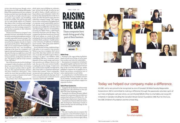 Article Preview: RAISING THE BAR, June 21st 2010 | Maclean's