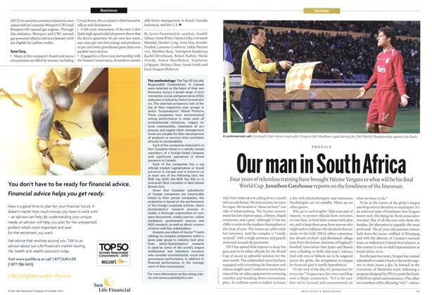 Article Preview: Our man in South Africa, June 21st 2010 | Maclean's