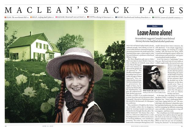 Article Preview: Leave Anne alone!, June 21st 2010 | Maclean's