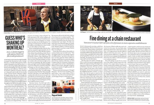 Article Preview: Fine dining at a chain restaurant, June 2010 | Maclean's
