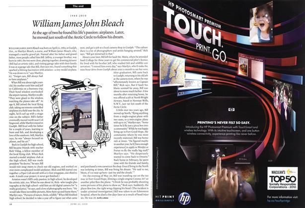 Article Preview: 1984-2010 William James John Bleach, June 21st 2010 | Maclean's