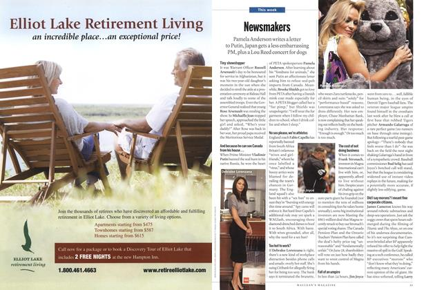 Article Preview: Newsmakers, June 2010 | Maclean's