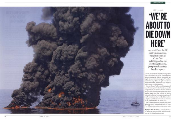 Article Preview: 'WE'RE ABOUT TO DIE DOWN HERE', June 28th 2010 | Maclean's