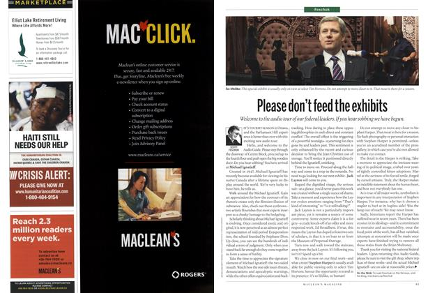 Article Preview: Please don't feed the exhibits, June 28th 2010 | Maclean's