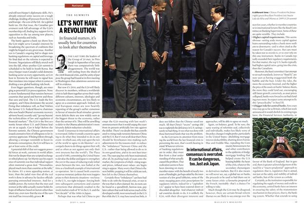 Article Preview: LET'S NOT HAVE A REVOLUTION, July 5th 2010 | Maclean's