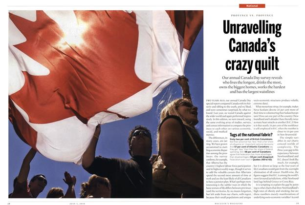 Article Preview: Unravelling Canada's crazy quilt, July 5th 2010 | Maclean's