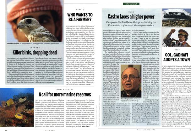 Article Preview: COL. GADHAFI ADOPTS A TOWN, July 5th 2010 | Maclean's