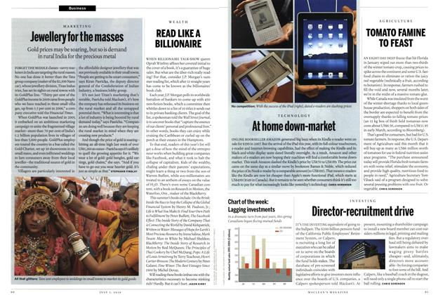 Article Preview: READ LIKE A BILLIONAIRE, July 5th 2010 | Maclean's