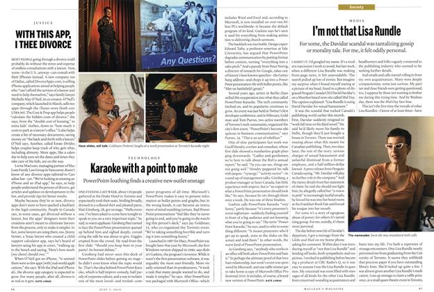 Article Preview: Karaoke with a point to make, July 5th 2010 | Maclean's