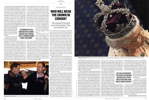 Article Preview: WHO WILL WEAR THE CROWN IN CANADA?, July 5th 2010 | Maclean's