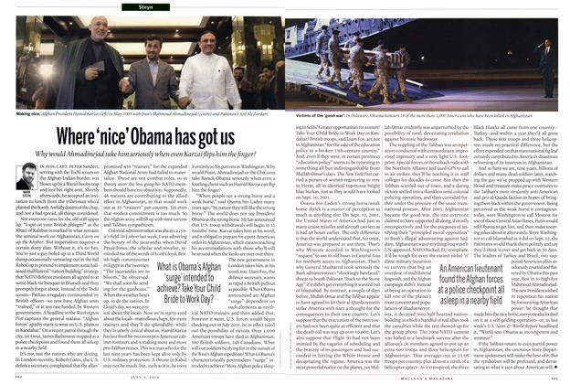 Article Preview: Where 'nice' Obama has got us, July 5th 2010 | Maclean's