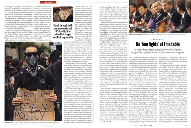 Article Preview: No 'bun fights' at t his table, July 19th 2010 | Maclean's