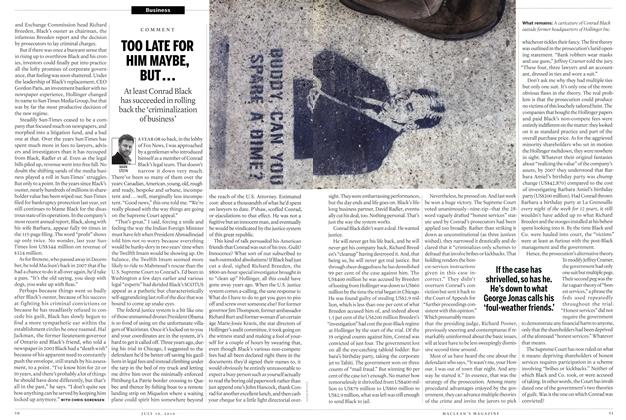 Article Preview: TOO LATE FOR HIM MAYBE, BUT..., July 19th 2010 | Maclean's