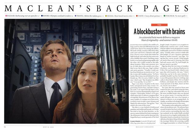 Article Preview: A blockbuster with brains, July 19th 2010 | Maclean's