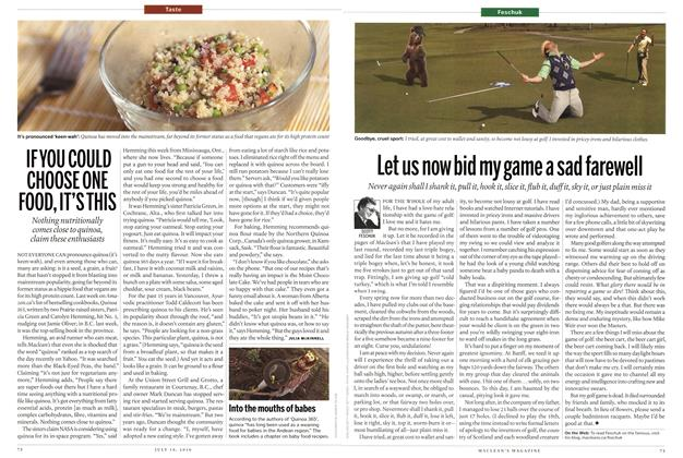 Article Preview: Let us now bid my game a sad farewell, July 19th 2010 | Maclean's