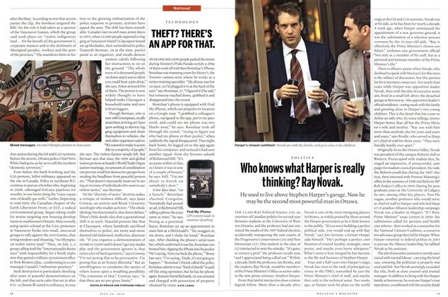 Article Preview: THEFT? THERE'S AN APP FOR THAT., July 2010 | Maclean's