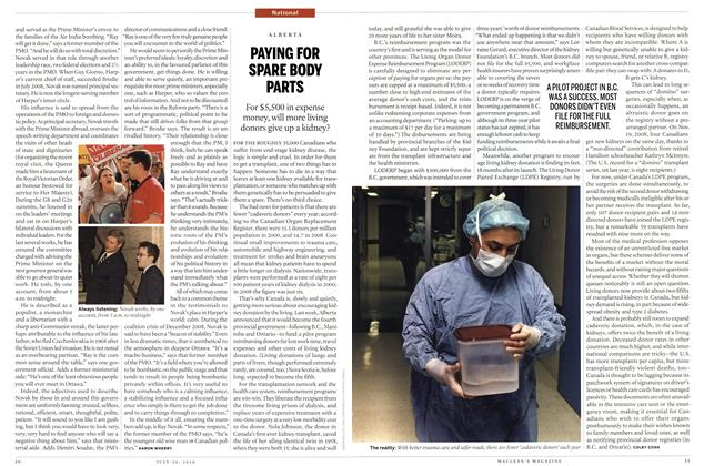 Article Preview: PAYING FOR SPARE BODY PARTS, July 26th 2010 | Maclean's