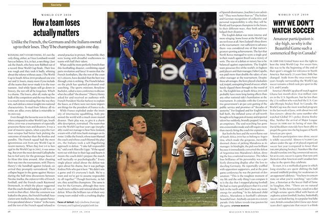 Article Preview: How a team loses actually matters, July 2010 | Maclean's