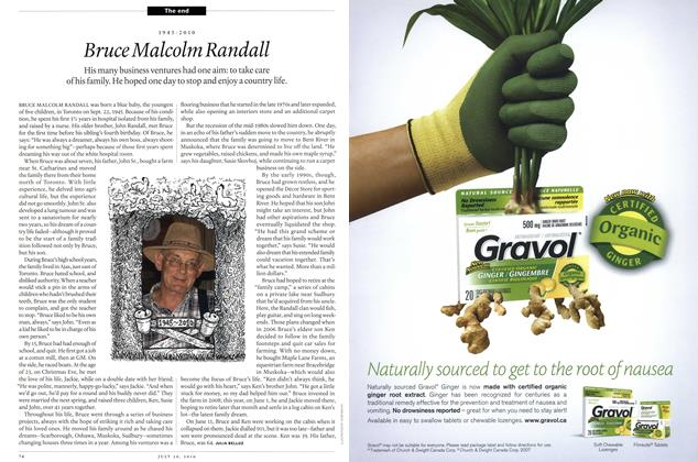 Article Preview: Bruce Malcolm Randall, July 26th 2010 | Maclean's
