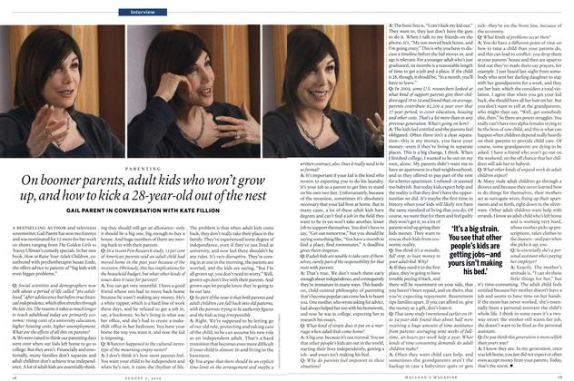 Article Preview: On boomer parents, adult kids who won't grow up, and how to kick a 28-year-old out of the nest, August 2nd 2010 | Maclean's